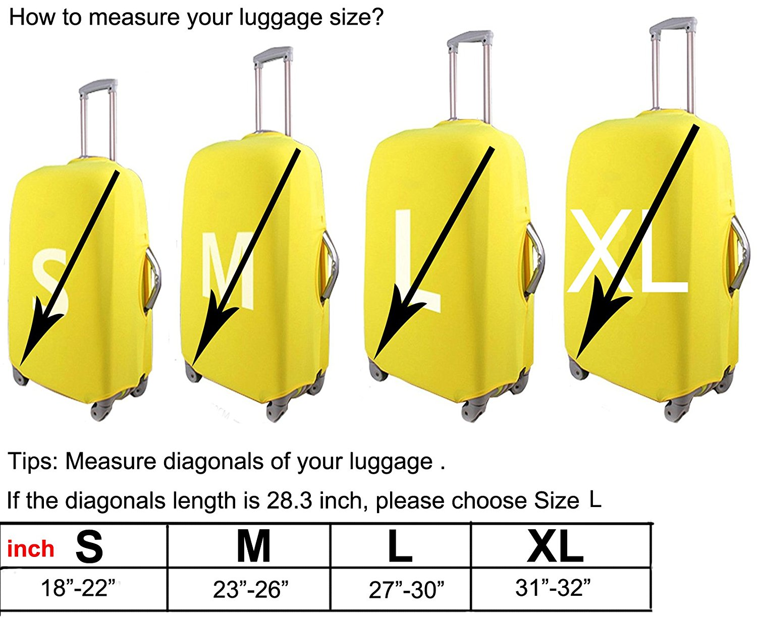 LEISISI Luggage protection cover Travel Suitcase covers Pygmy Three Toed Sloth Print Design XL 31-32 inch